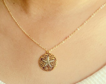 Sand Dollar Necklace / Gold or Silver Necklace