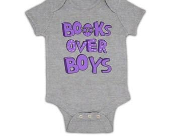 Books Over Boys baby grow