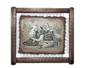New Baby Photo Engraved On The Genuine Leather