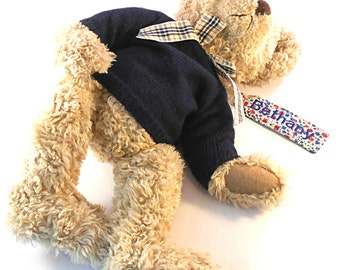 Personalised Named Liberty Print Lost Toy, Lost Teddy, Lost Blanket, Tag / Label with embroidered name and telephone number