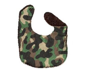 Infant Bib <<Camo>> ~ Neckerchief/Baby/Scarf//Brown//Green//Tan//Camouflage//Army