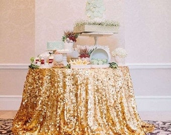 Round Sequin Tablecloth, Large Round Sequin Tablecloth
