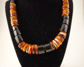 Spondylus & Black Coral Necklace