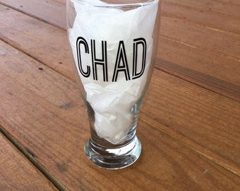 Personalized Pilsner Beer Glass - Dad Gift - custom name glass