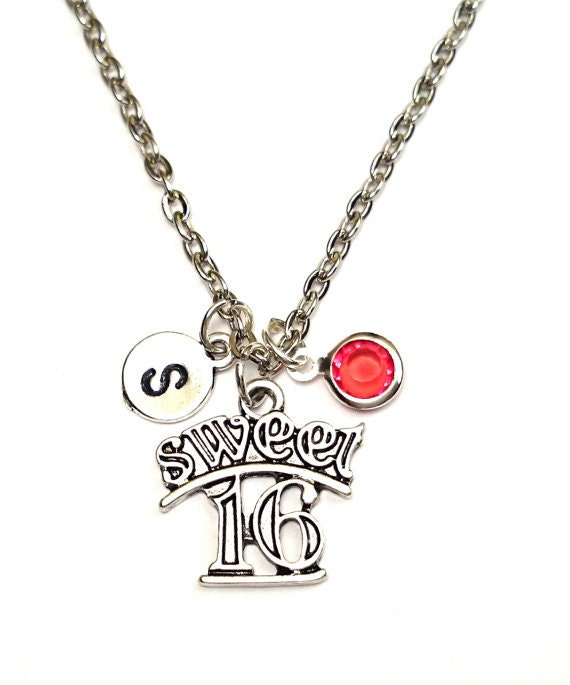 Sweet 16 Charm Bracelet: Sweet 16 Necklace Sweet 16 Charm Sweet 16 Pendant Sweet 16