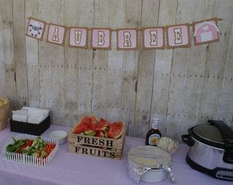 Farm Party Name Banner