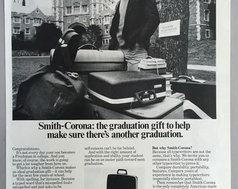 Lot of 2 1971, 1972 Smith-Corona Typewriter Print Ad