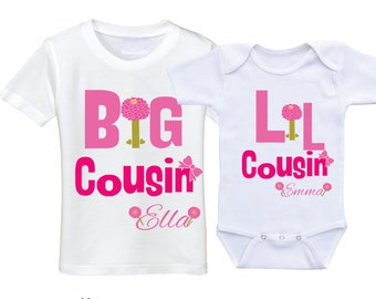 Big cousin little cousin matching set cousin shirts gifts for cousins clothing cousins tshirt cousin onesie big cousin shirt cousin gift