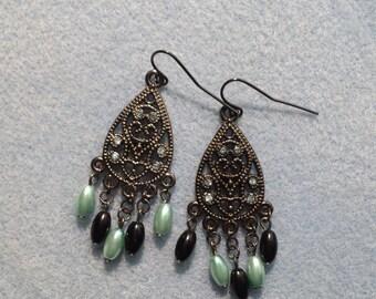American Gothic Chandelier Earrings (Blue)
