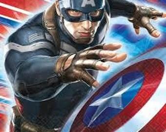 Captain America ''Winter Soldier'' Luncheon Napkins 16ct