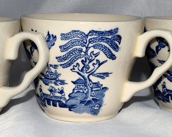 3 Blue Willow Pattern Cups by EIT