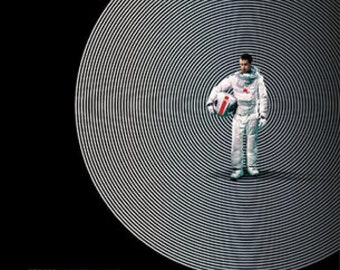 Moon Movie POSTER (2009) Sci-Fiction/Drama