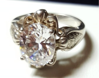 Clear stone Ring. 925 Sterling silver size 7
