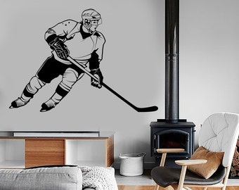 Wall Vinyl Decor Art Hockey Winter Sport Sport Amazing Cool Decor 1280dz