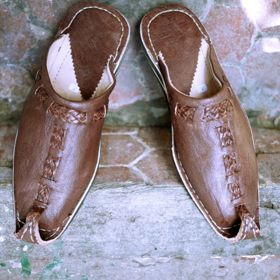 bohemian leather shoes moroccan leather shoes by