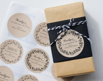 Wedding Stickers - Personalised Wedding Favour Labels