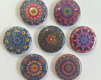 Mandala Magnets - set of 7