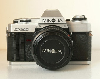 Minolta X-300 Vintage SLR Camera With 50mm Prime Lens