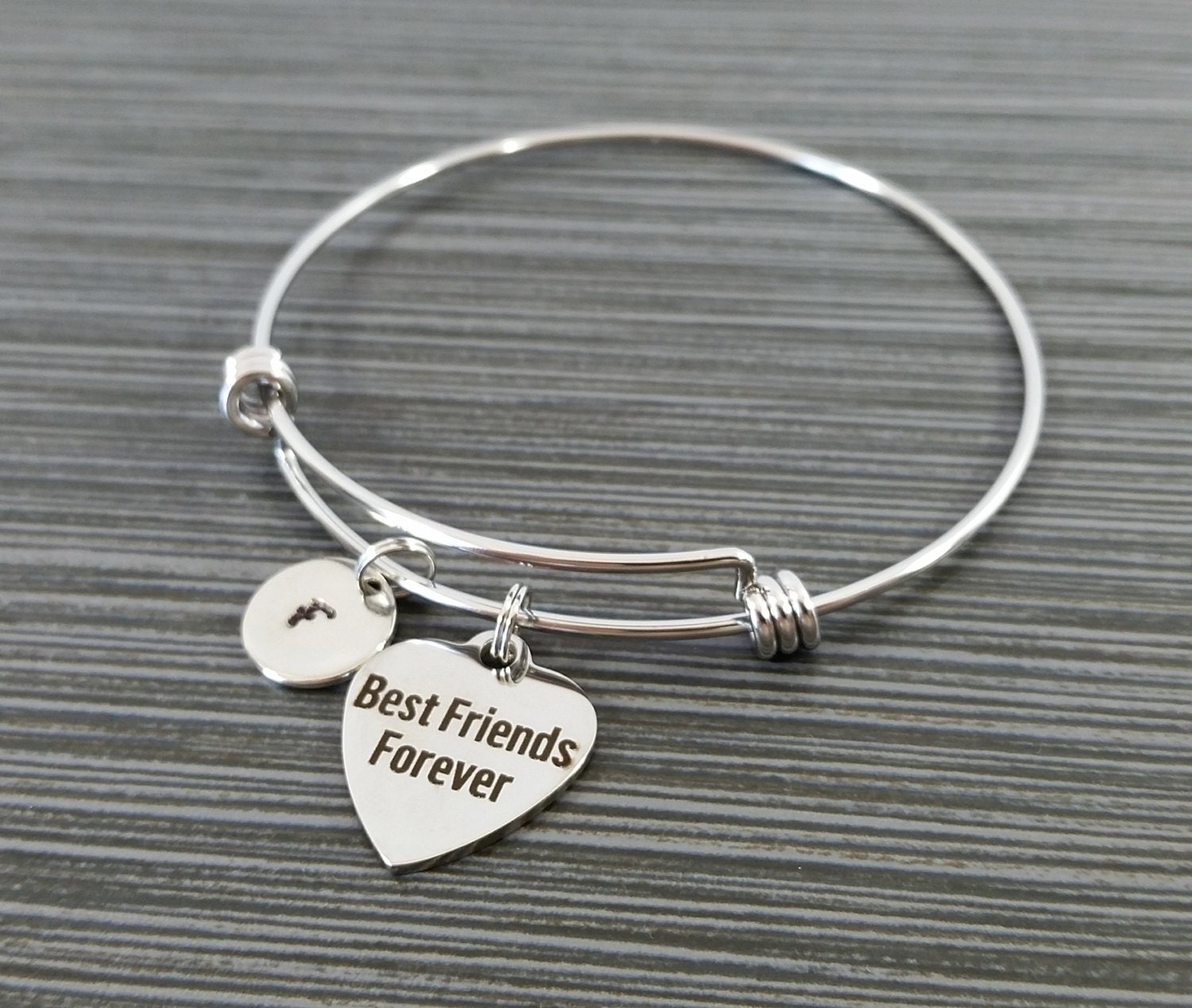 Best Friend Charm Bracelet: Best Friends Forever Bangle Best Friend Charm Bracelet