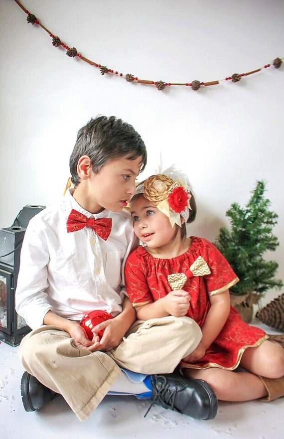 Items similar to Christmas Brother Sister Outfits ...