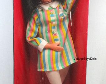 Vintage Mod Jackie Doll NRFB by Fun-World 1960's 14 Inch Fashion Doll