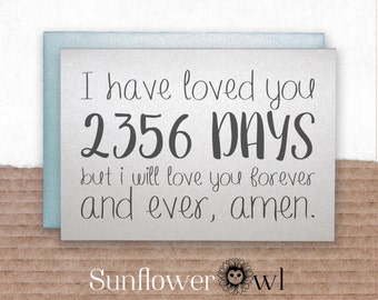 I have loved you for, amen anniversary card for boyfriend girlfriend bride groom husband wife proposal engagement