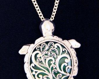 Sea turtle necklace sea jewelry tortoise necklace green turtle pendant ocean jewelry beach jewelry gift for birthday turtle jewelry gift her