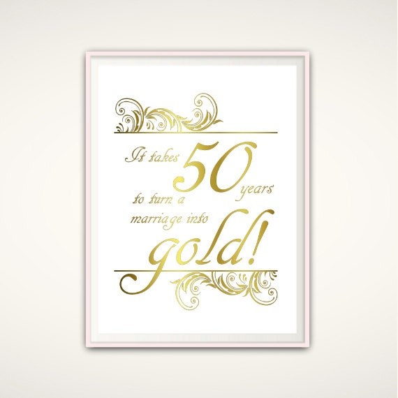 Golden Wedding Gift Ideas For Parents: 50th Anniversary Gifts For Parents 50th By FromTheRookery