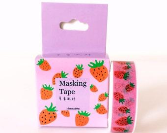 Cute strawberry pattern washi tape