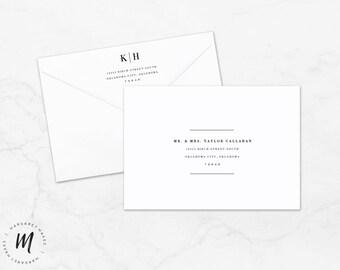 items similar to printable mail art envelope templates on etsy. Black Bedroom Furniture Sets. Home Design Ideas