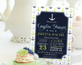 Nautical Couples Shower Invitation - Personalized Printable DIGITAL FILE