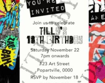 Pop Art Invitation