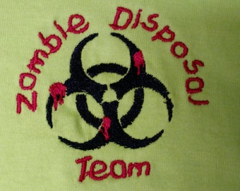 Neon Green Zombie Team T-Shirt