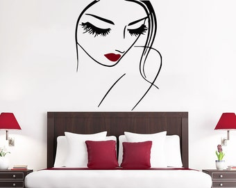 Nude woman wall decals girl spa massage relax beauty salon for Stickers design salon