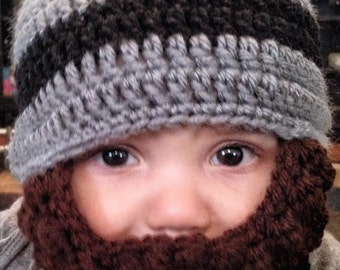 Baby beard hat (customizable)