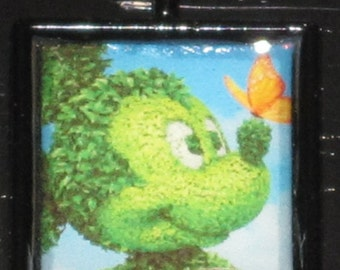 Topiary Mickey with butterfly charm