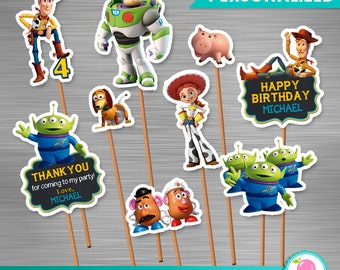 Toy Story Small Centerpieces Print Yourself, Toy Story Printable Toppers, Toy Story Centerpieces, Toy Story Party, Toy Story Birthday