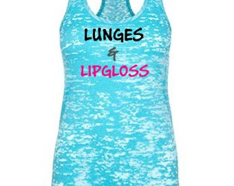 womens workout tank top. workout tank. exercise tank top. Gym tank. Running Tank. fitness apparel. Fitness tank top. Lunges & Lipgloss