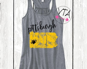 Pittsburgh Football Tank. Steelers Tank Top. Pittsburgh Steelers.