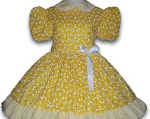 Adult Sissy Baby Dress Bumblebees Bumble Bee Yellow Cotton Dress ABDL Made to your measurements Summer Dress Crossdresser Lolita