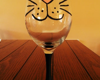 Kitty Whiskers Wine Glass Set