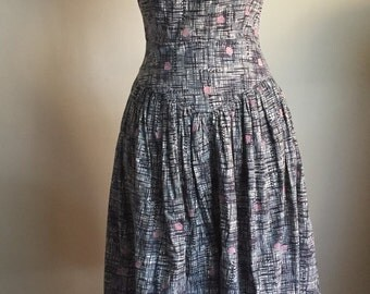 1950's abstract cotton dress