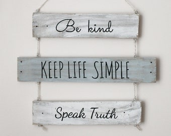 Be kind | Wooden Decoration