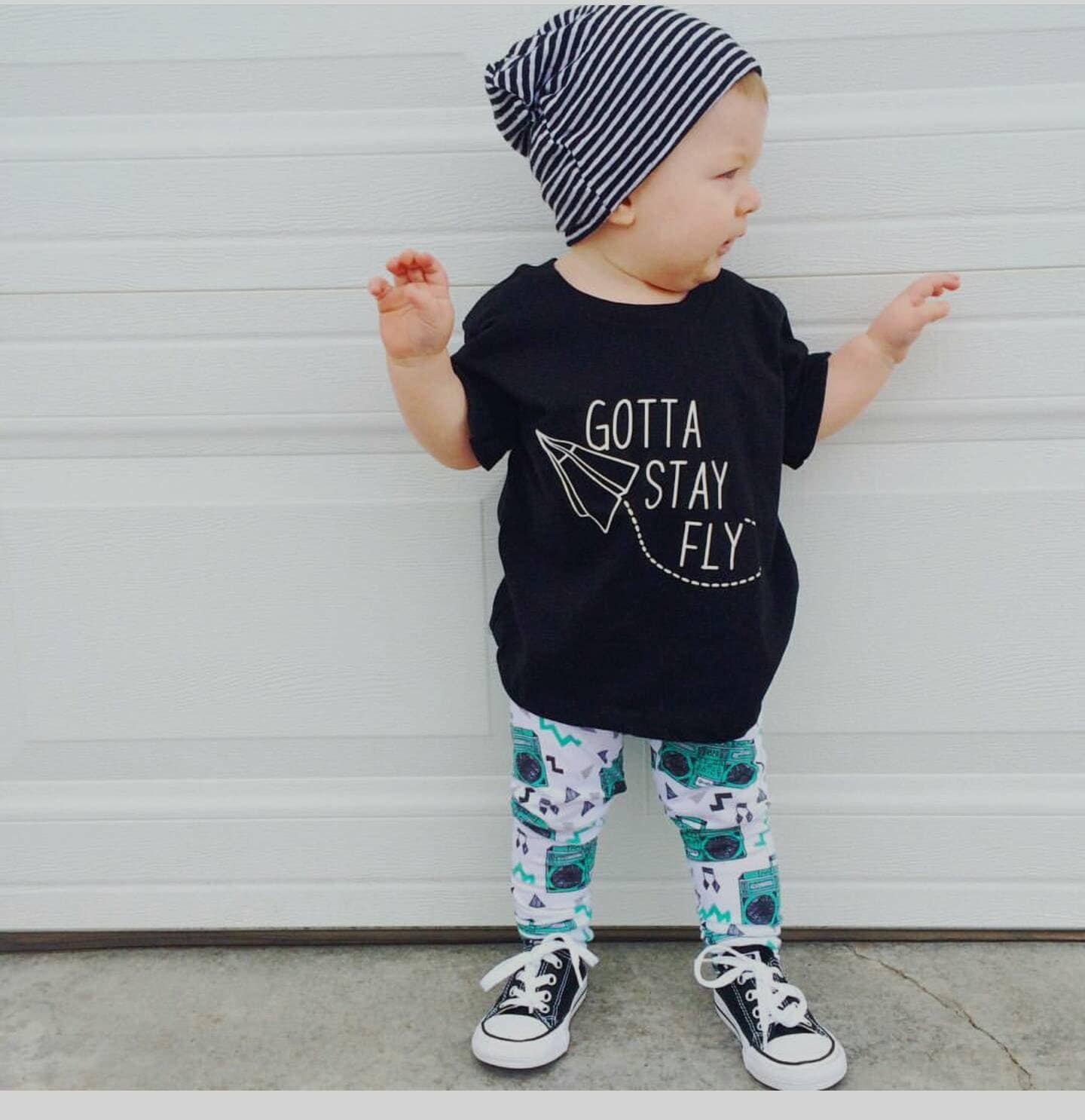 Gotta stay fly trendy boy clothes hipster baby clothes