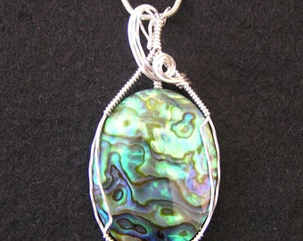 Paua Shell in Sterling Silver