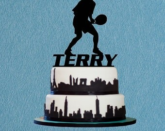 Basketball Cake Topper for Games Celebration.Custom Name Cake Topper, Funny Cake Topper For Party or Birthday.Sport Cake Topper.