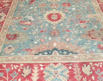 8' x 10' Chinese Agra Oriental Rug - Hand Made - 100% Wool - Vegetable Dye