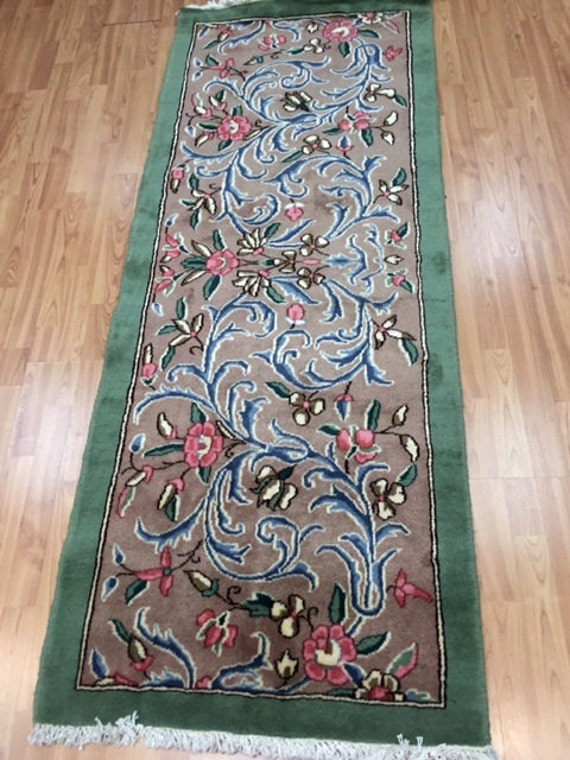 "2'6"" x 6'6"" Persian Kerman Floor Runner Oriental Rug - Hand Made 100% Wool"