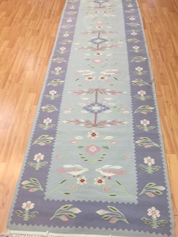 "2'6"" x 9'8"" Chinese Kilim Floor Runner Oriental Rug - Very Fine - Hand Made"