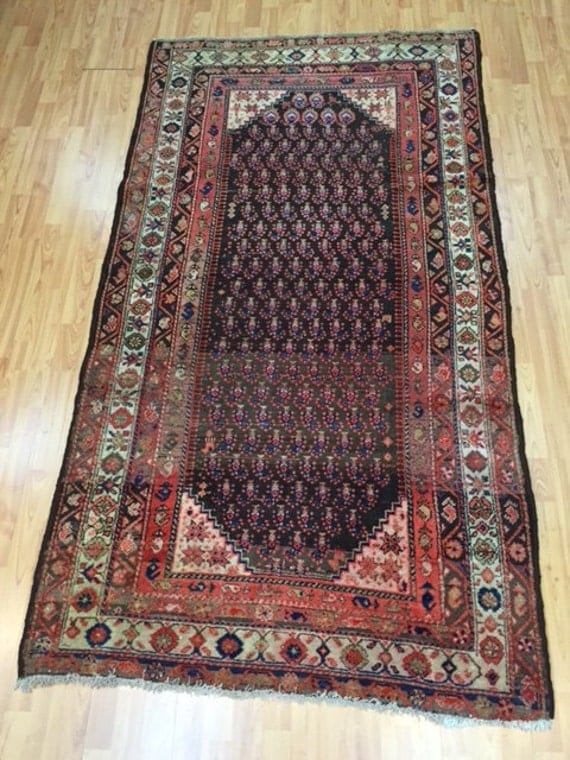 4' x 7' Antique Persian Hamadan Oriental Rug - 1930's - Hand Made - 100% Wool - Vintage